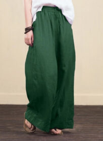 Bohemian Floral Print Wide Leg Pants And Ethnic Woman Holiday Elastic Waist Bow Full Length Trousers And Femme Casual Pants Of Plus Size
